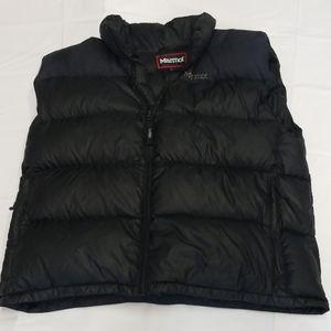 Marmot black mens vest down fill jacket size Large